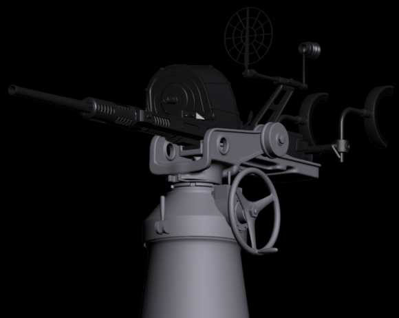 PT Boat Oerlikon 20mm AA Gun Mark 4 and Mark 4 Mount
