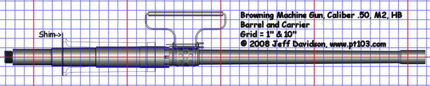 Browning .50 Cal M2 HB Barrel and Carrier Dimensions