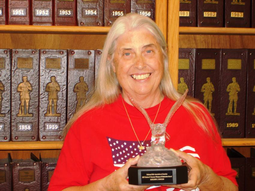 Marlene Duncan with the NRA 2009 Marion P. Hammer Award