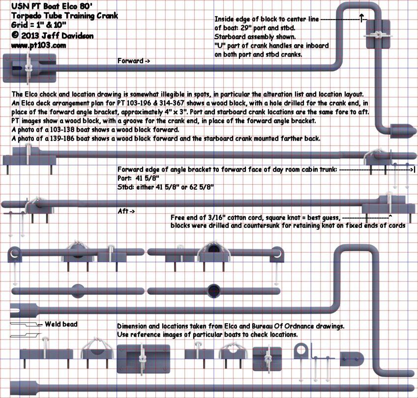 Elco 80 Foot Pt Boat 103 Class Torpedo Tube Dimensions
