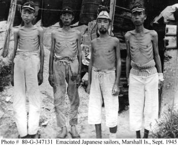 WWII Marshall Island Emaciated Japanese Soldiers September 1945