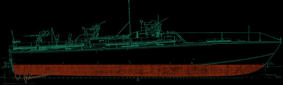 Elco PT Boat Outboard Profile Plan
